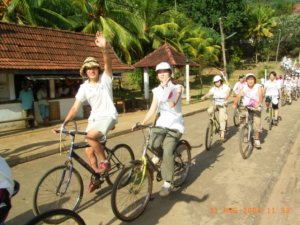 Bicycle Rally for Peaceの様子