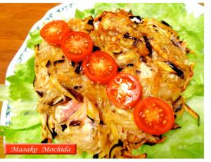 ◆モッチーママの大和薬膳料理◆第29回「コラーゲンたっぷりの生秋鮭と、じゃがいも、茄子のトルティーノ♪」