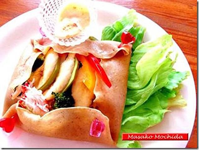 ◆モッチーママの大和薬膳料理 ◆第36回「ストレスに強くなる冬野菜で、可愛い蕎麦粉ガレット♪」
