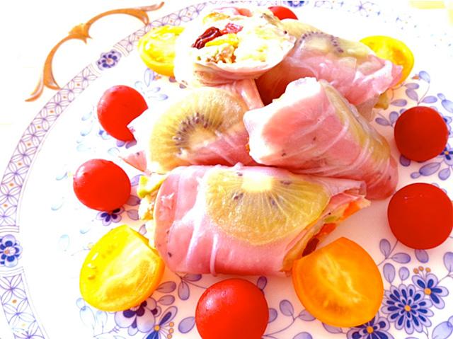 ◆モッチーママの大和薬膳料理 ◆第37回「むくみを改善するポテトサラダのペパーポーク包み♪」