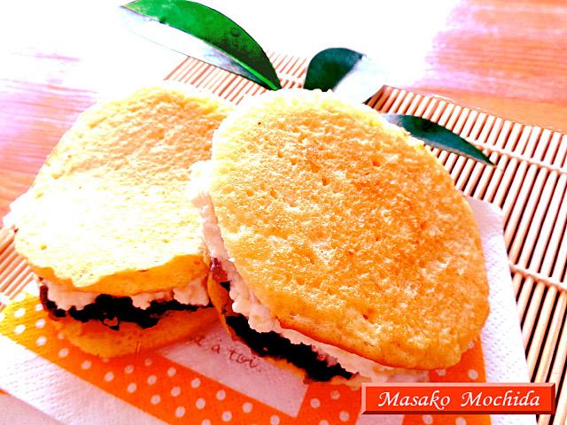 ◆モッチーママの大和薬膳料理 ◆第41回「◆ホイップクリームとヨモギ餡がタップリ!夏のヒンヤリどら焼♪」