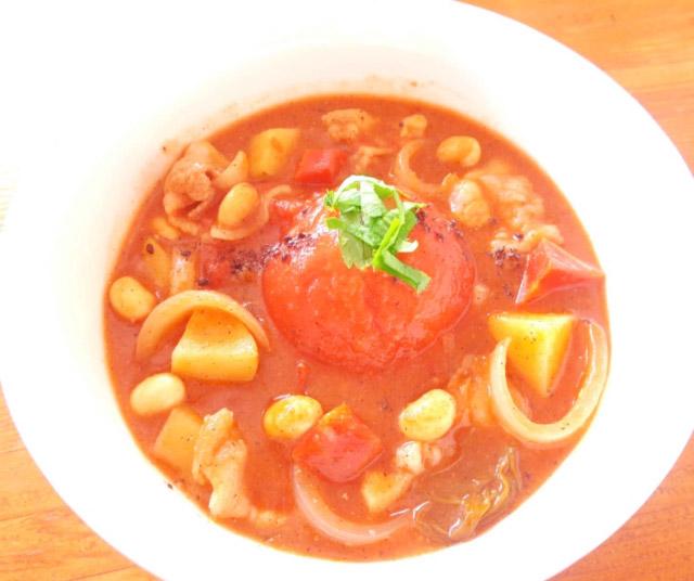 ◆モッチーママの大和薬膳料理 ◆第43回「◆元気の気を補う餅入り胡麻の丸ごとトマトシチュー♪」