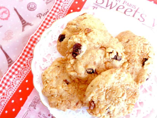 ◆モッチーママの大和薬膳料理 ◆第47回「◆記憶力を向上させる胡桃と干しブドウのカリカリクッキー♪」