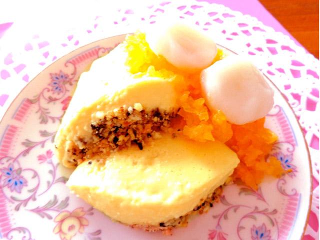 浮腫みを予防する柿と白玉のムースティラミス